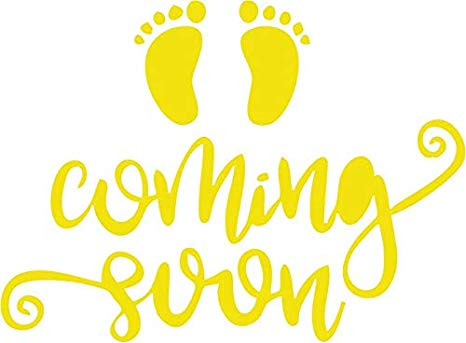 Amazon.com: Family Connections Baby Coming Soon Vinyl Decal.