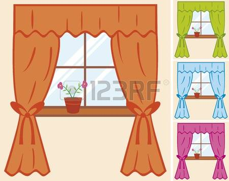 6,233 Window Curtain Stock Illustrations, Cliparts And Royalty.