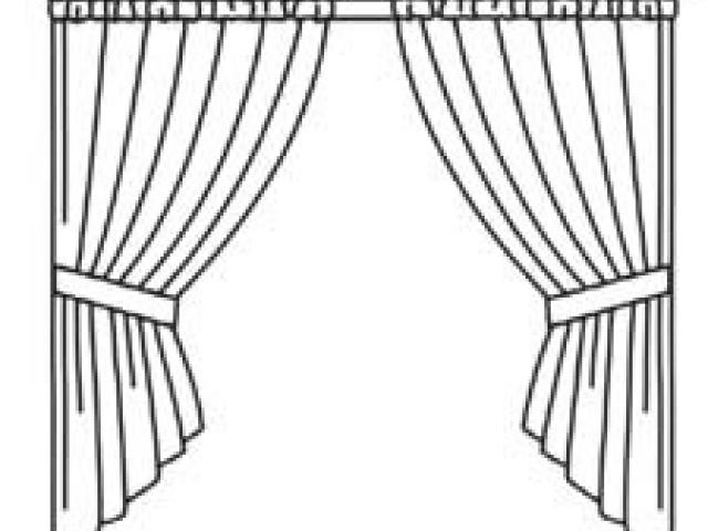 Window Curtain Drawing at PaintingValley.com.