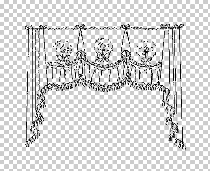 Drawing Window , curtains PNG clipart.
