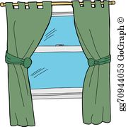 Window Curtains Clip Art.