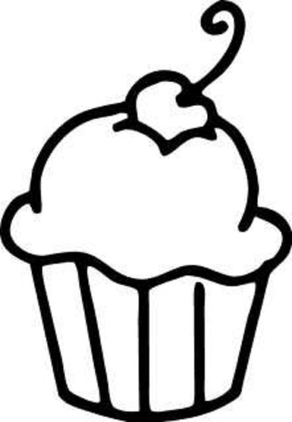 Cupcake Window Decal/Bakery Window Decal/Cup Cake Decal/ Cupcake.