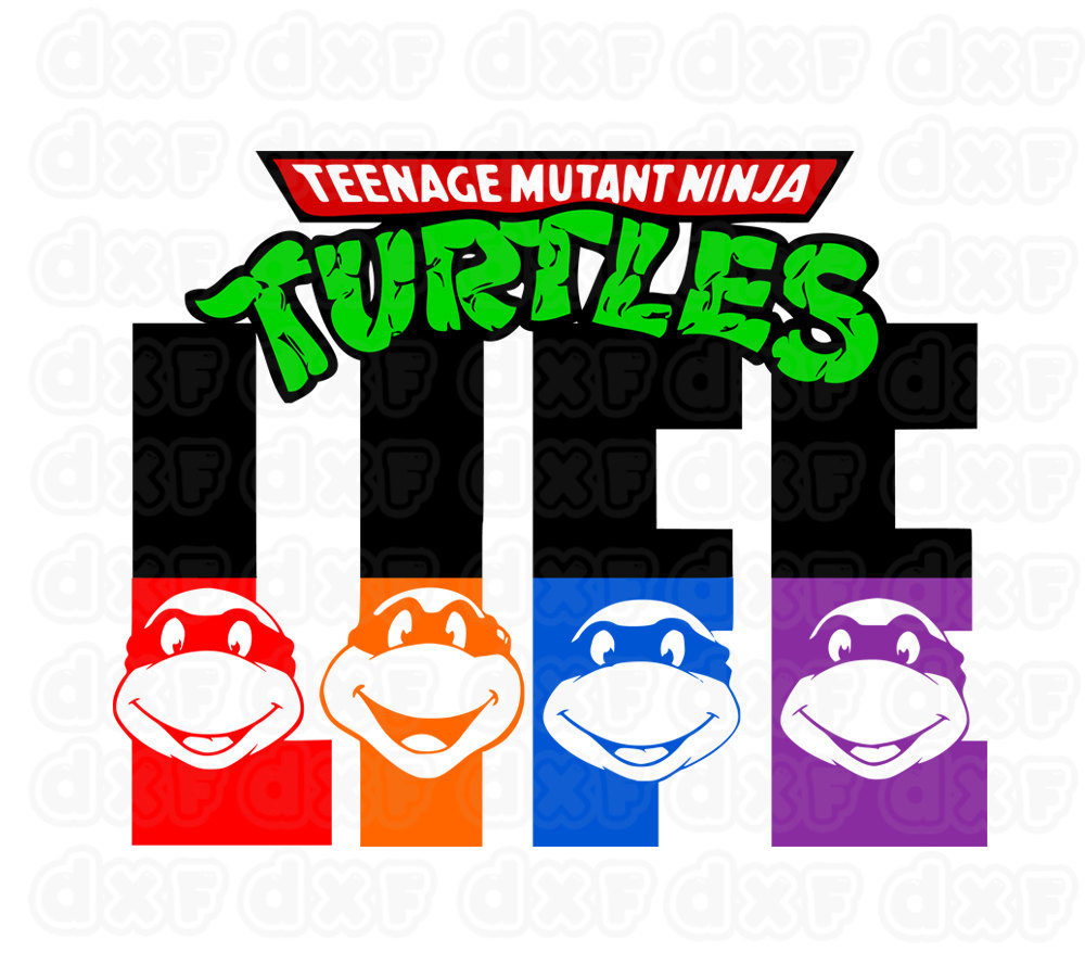 Teenage Mutant Ninja Turtles life Vinyl Window Decal Cutting File.