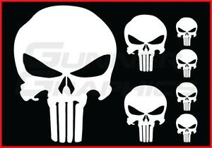 Details about Punisher pack Fits Ford Mustang rear window decal Punisher  decals 7 decal set.