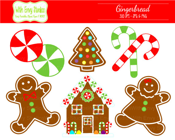 Gingerbread house window clipart.