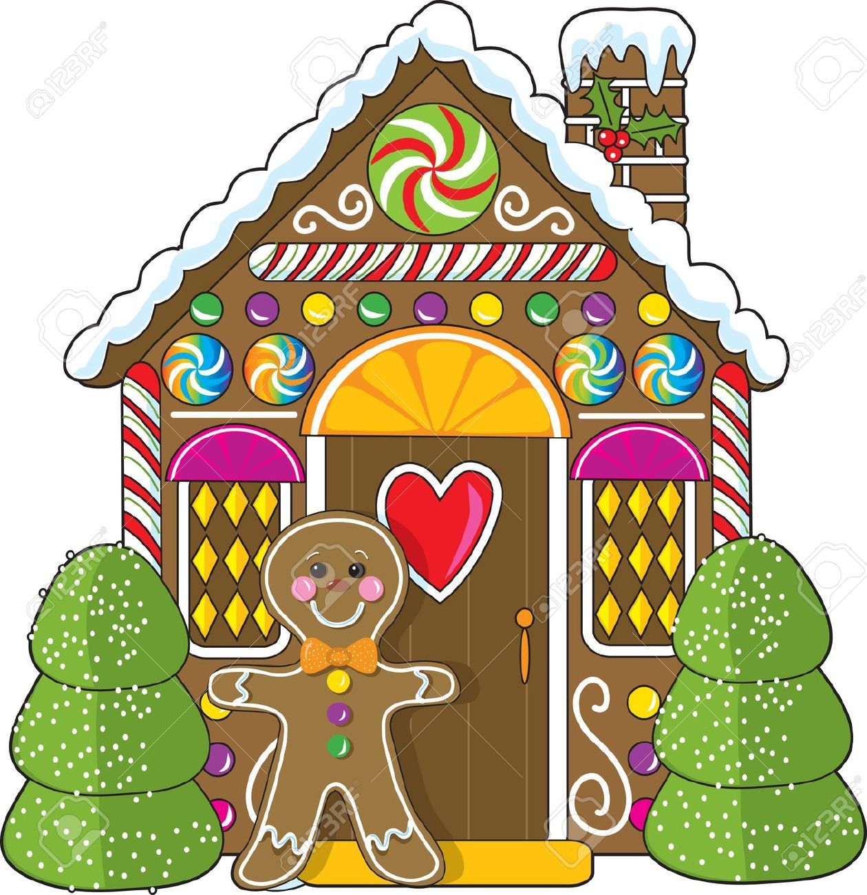Gingerbread House Decorations Clipart.