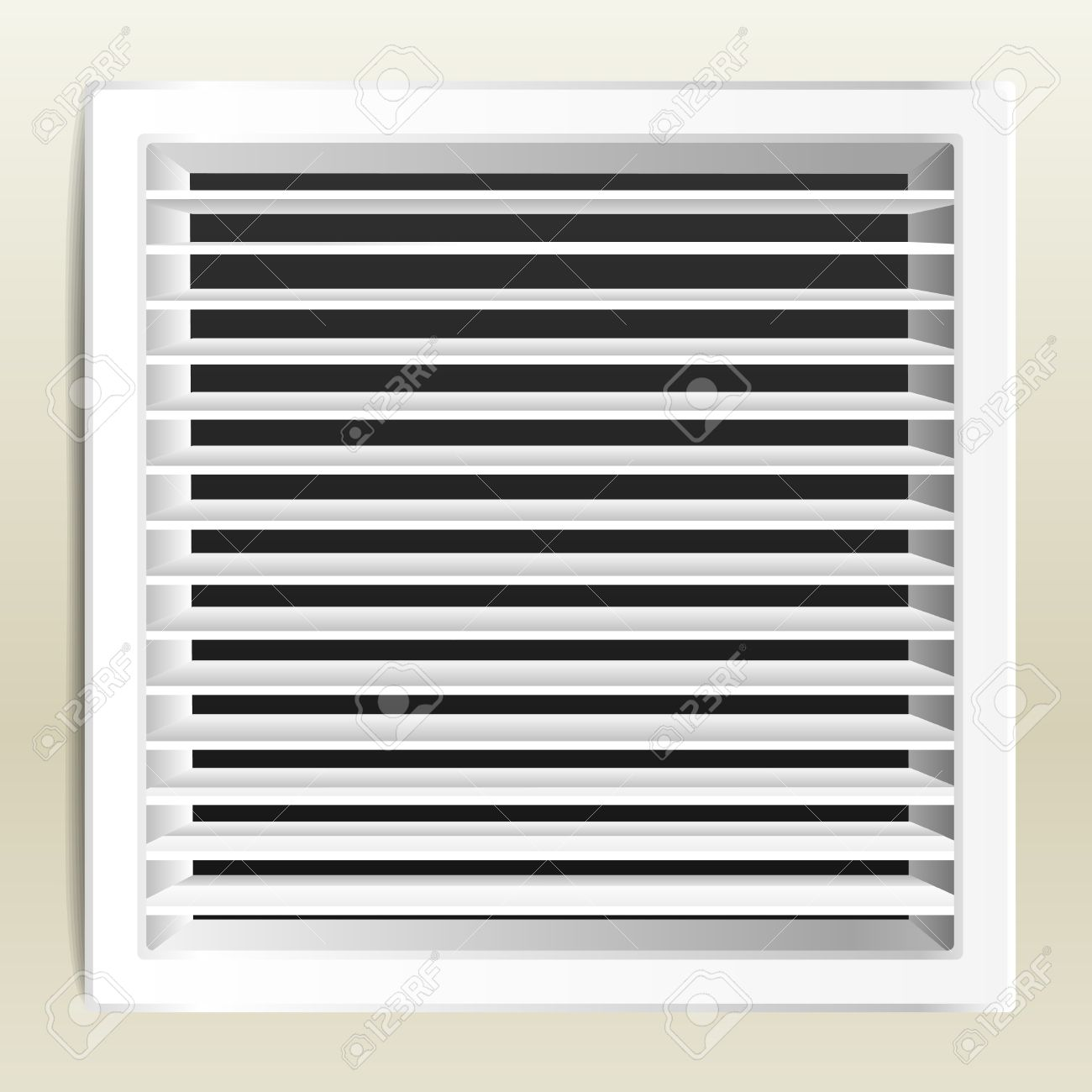 Photo Realistic Bathroom Ventilation Window. Royalty Free Cliparts.