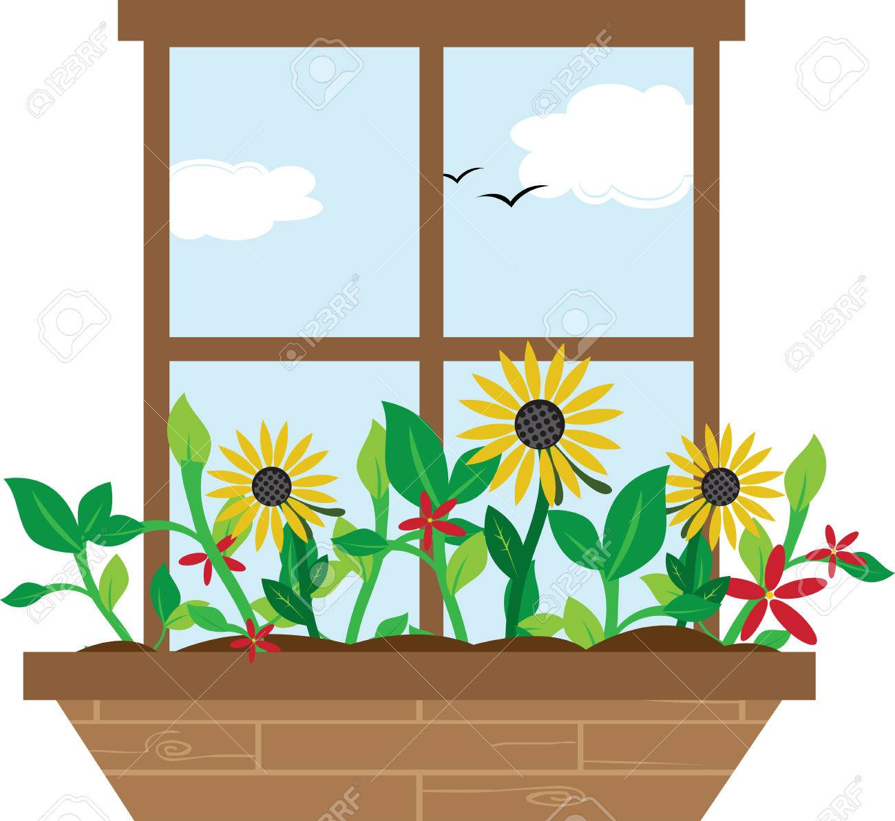 Window boxes are used to decorate for the different seasons.