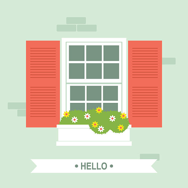 Window Flower Box Illustrations, Royalty.