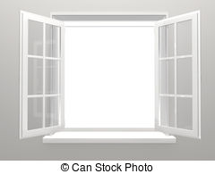 white window frame clipart