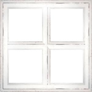 White window frame clipart.