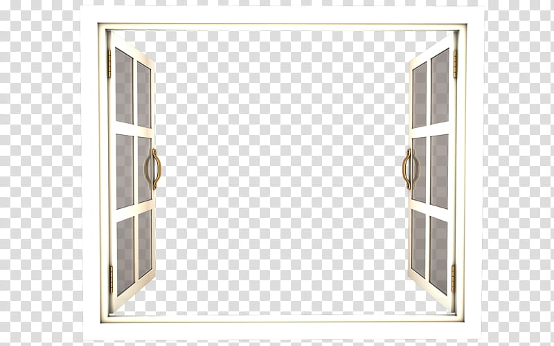 Window Frame, opened window transparent background PNG.