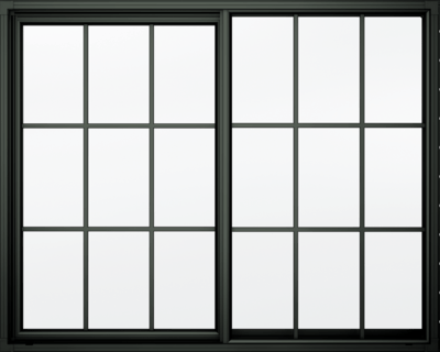 Black Window Frame transparent PNG.