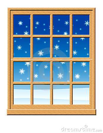 Window With Snow Clipart.