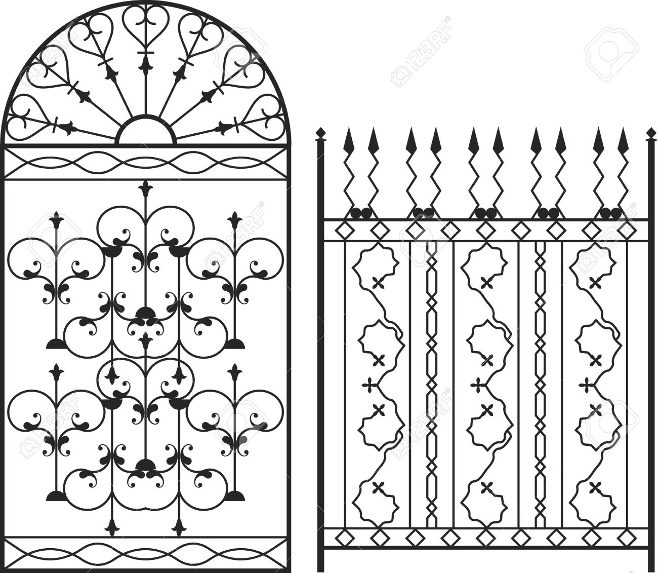 Wrought Iron Gate, Door, Fence, Window, Grill, Railing Design.