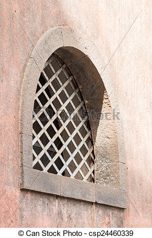 Drawings of Window with iron grating.