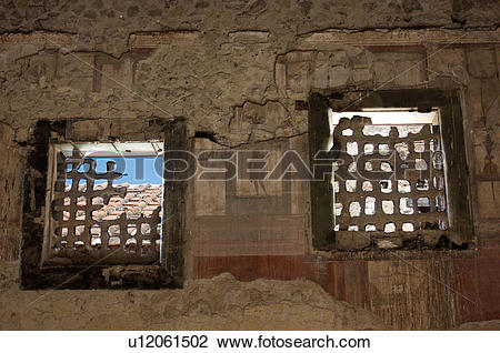 Stock Photo of In the shadow of Vesuvius, the ruins of Ercolano.