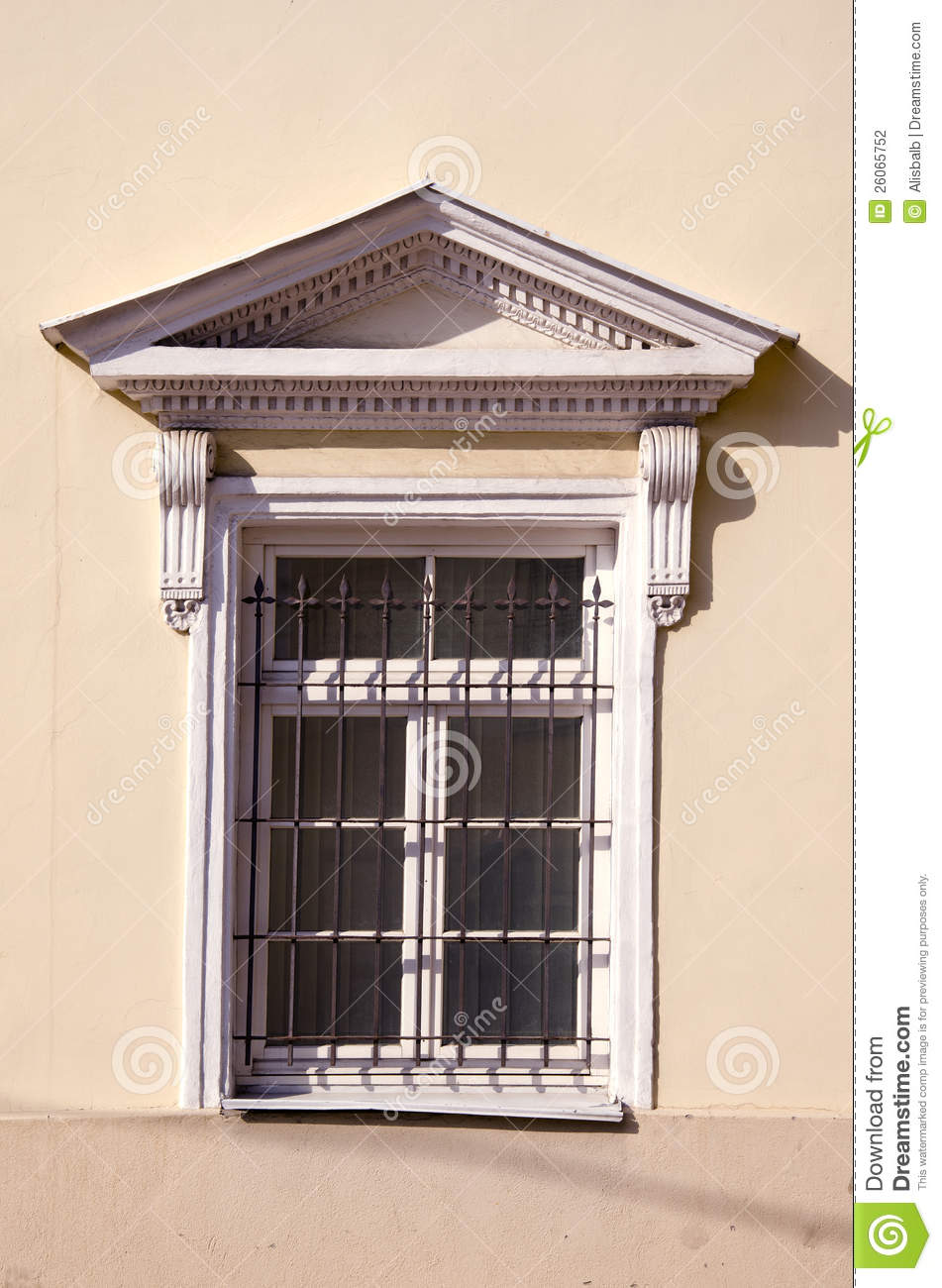 Historical Palace Window With Grating Stock Photography.