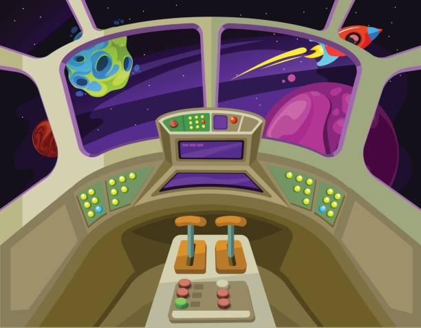 Inside A Spaceship Clipart.