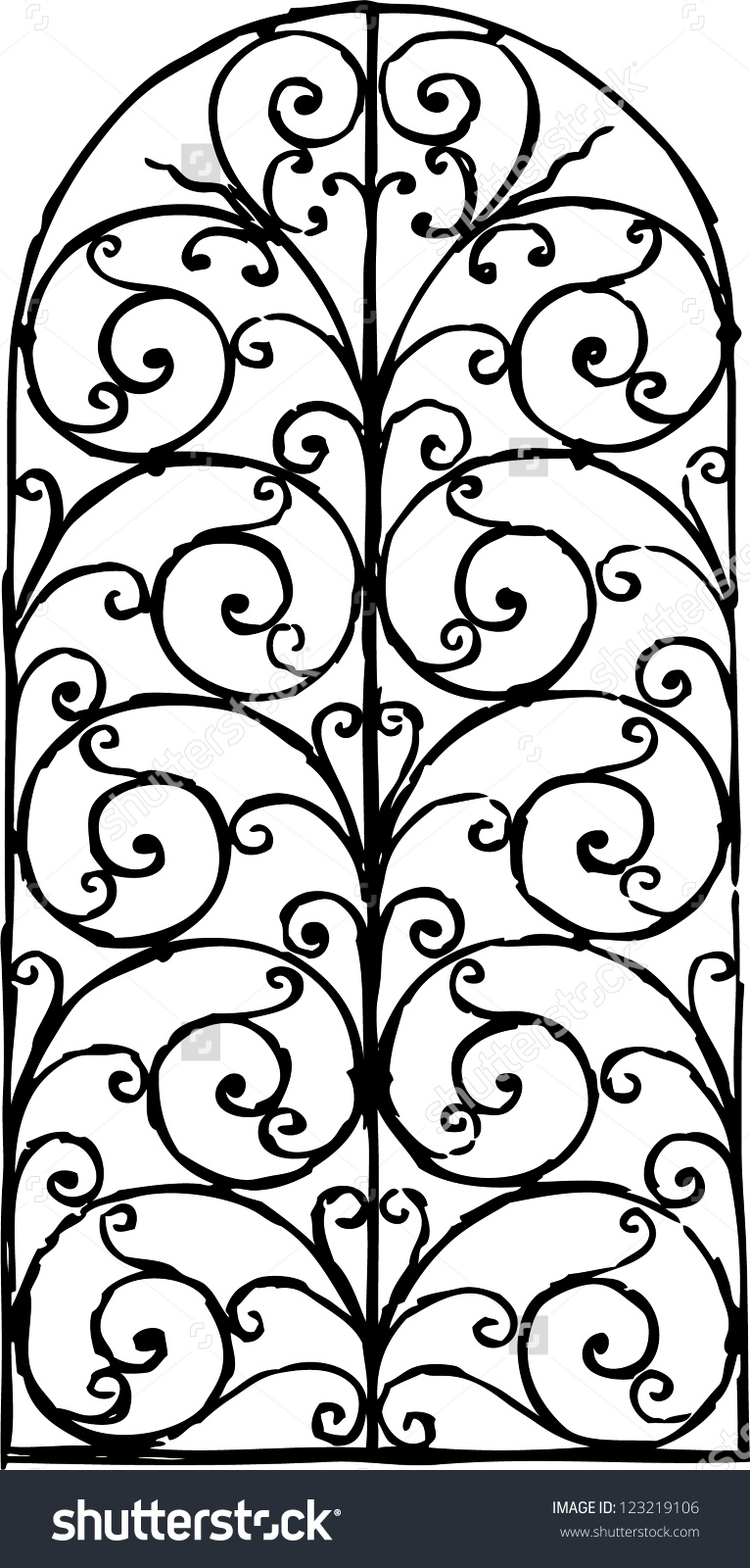 Window Grille Stock Vector 123219106.