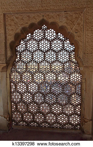 Pictures of ornament lattice window in india k13397298.