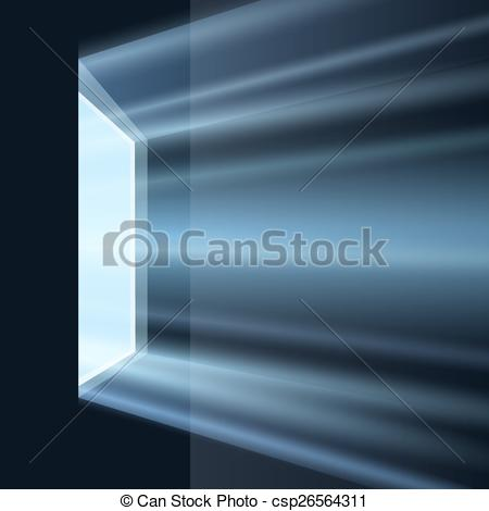 Vector Clip Art of Light From the Window.