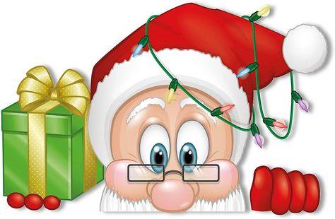 Peeping Santa and Rudolph Window Clings.