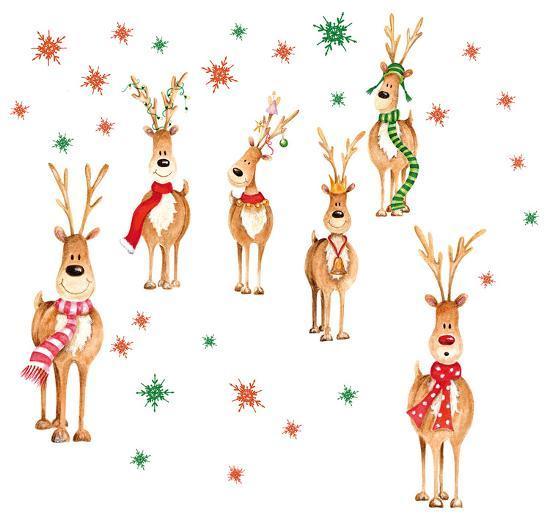 Rudolph & Friends Window Sticker Decal.