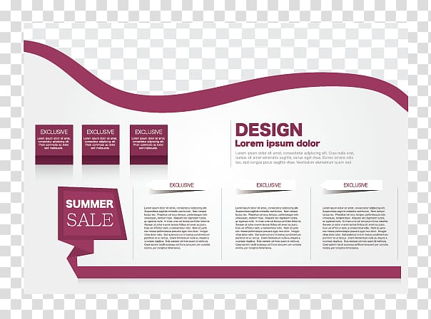 White and maroon background with summer sale text overlay.