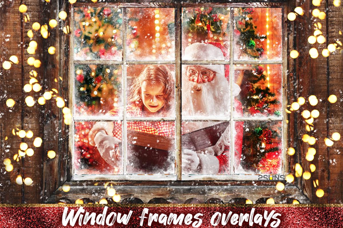 Window Frames Overlays Christmas Freeze Holiday photoshop.