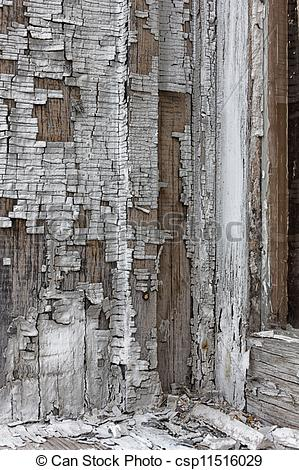 Stock Photo of Window Frame with Peeling Lead Paint.
