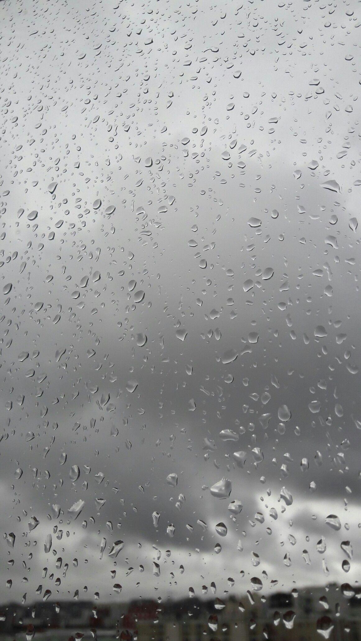 Wallpaper of rainwater drops on window & glass. #wallpaper.