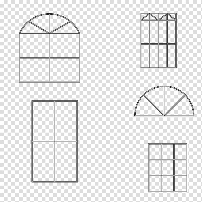 Window Square Shape Pattern, Simple window frame material.