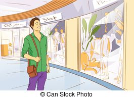 Window Shopping Clipart.