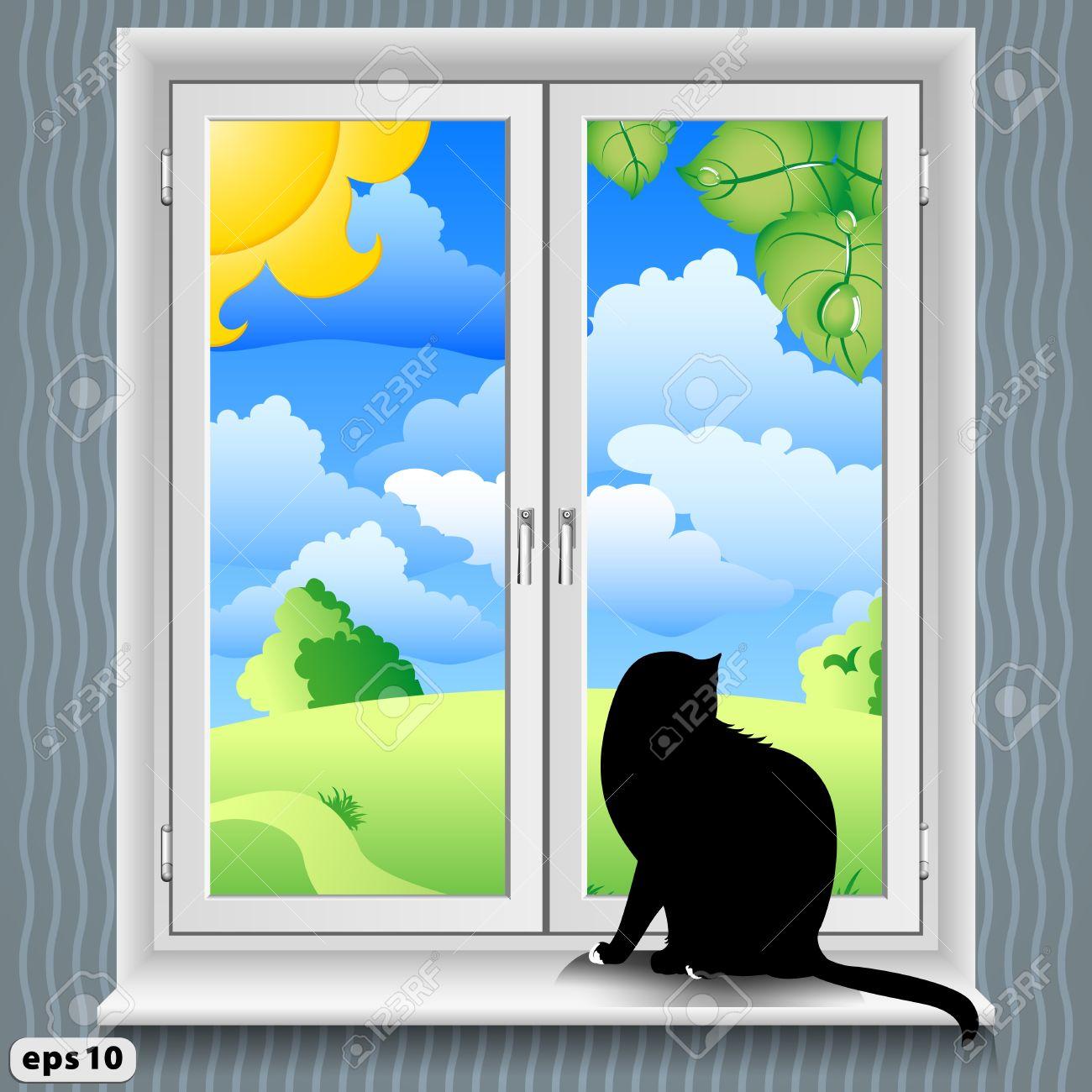 Showing post & media for Cartoon window ledge.