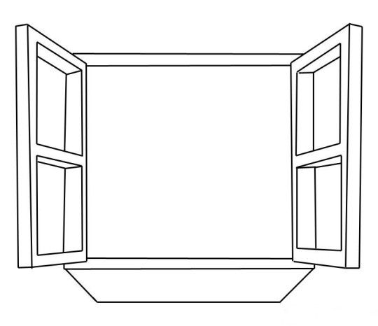 Window Coloring Pages for Kids.
