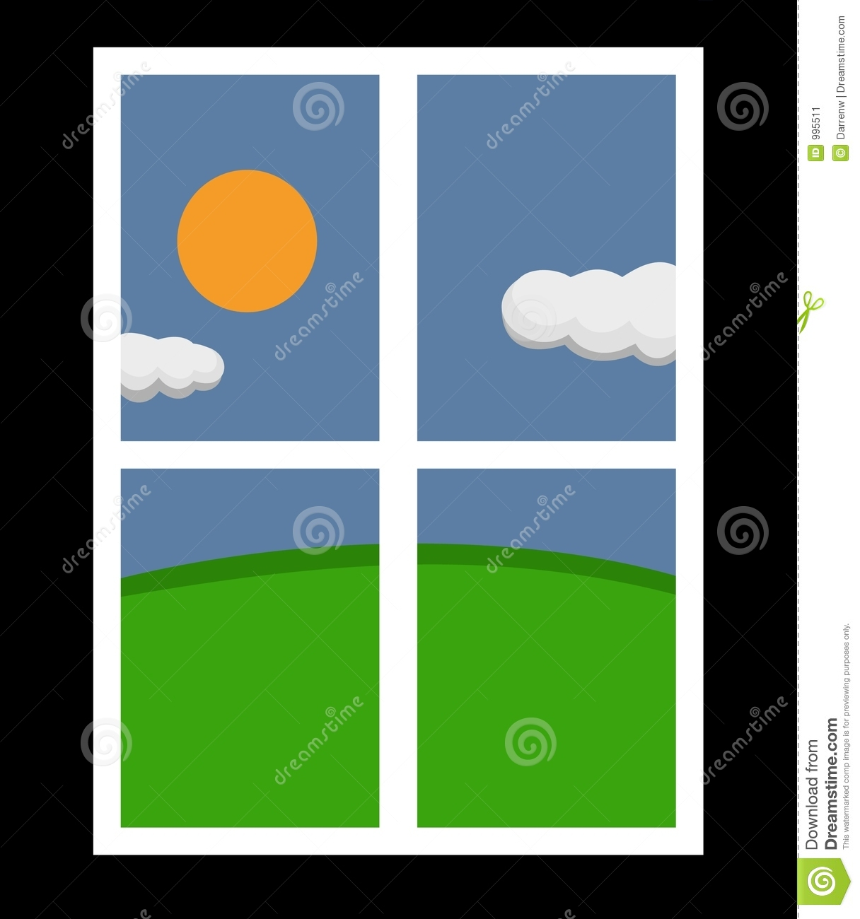 Window Looking Outside Clipart.