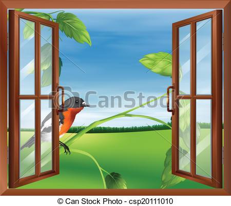 Window Looking Outside Clipart.