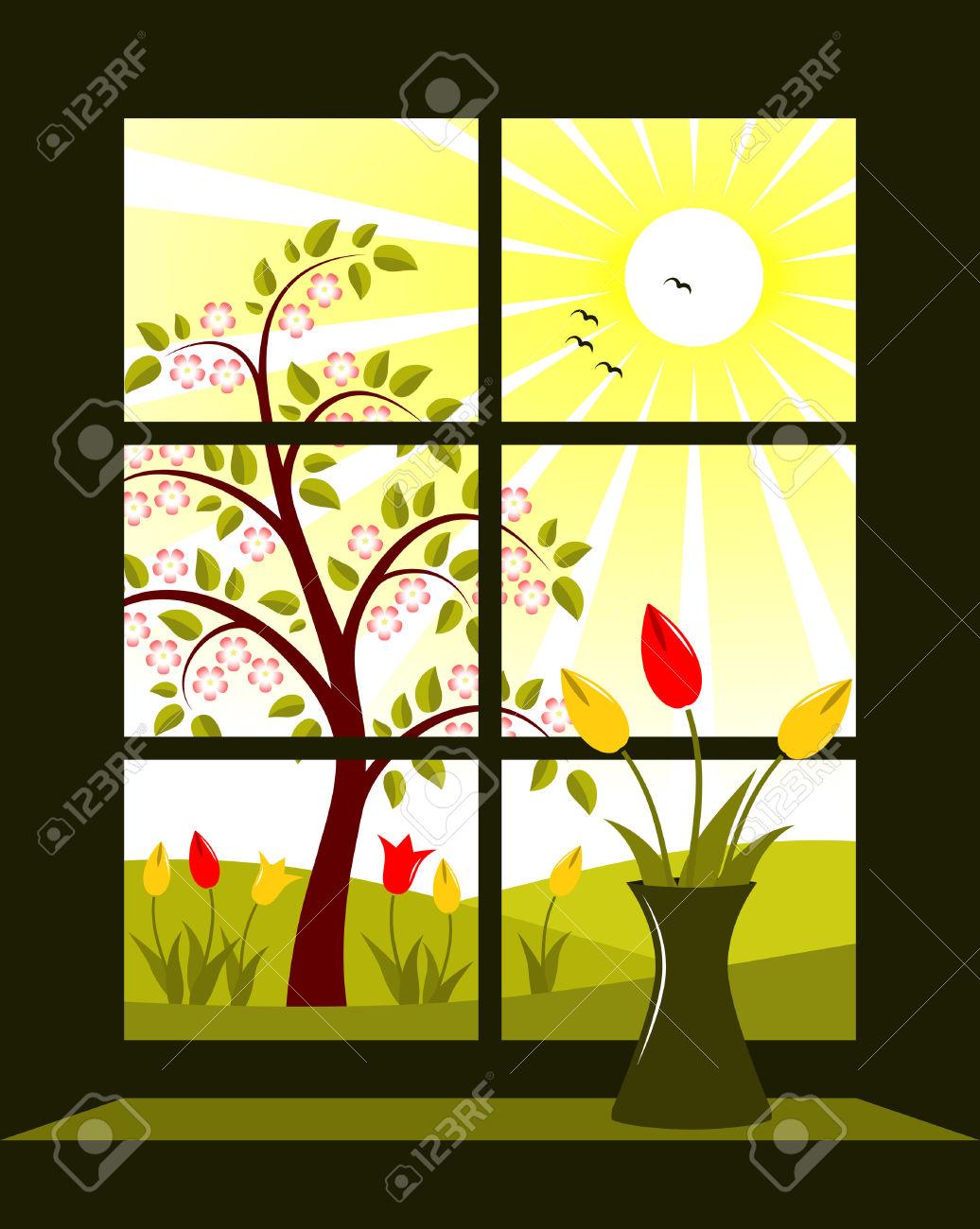 Outside window clipart.