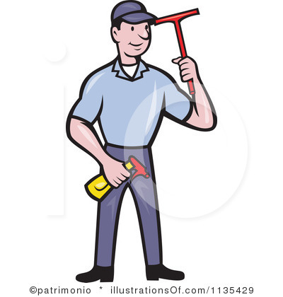 RF) Window Washer Clipart.