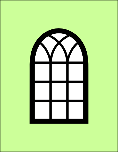 Arched window card and window frame svg.