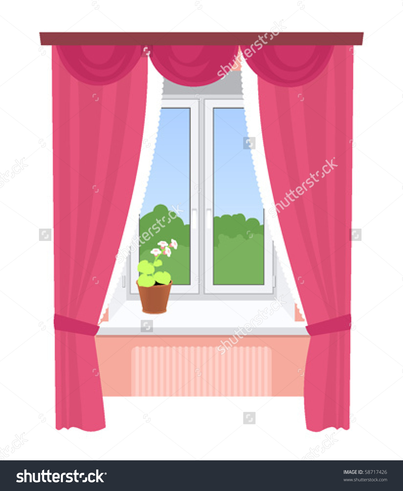 5876 Window free clipart.