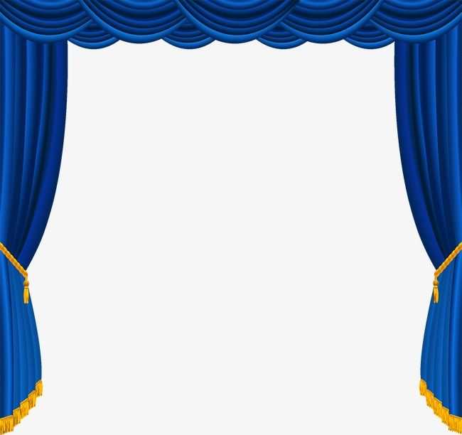 Blue Curtain, Blue, Curtain, Blue Vector PNG and Vector with.