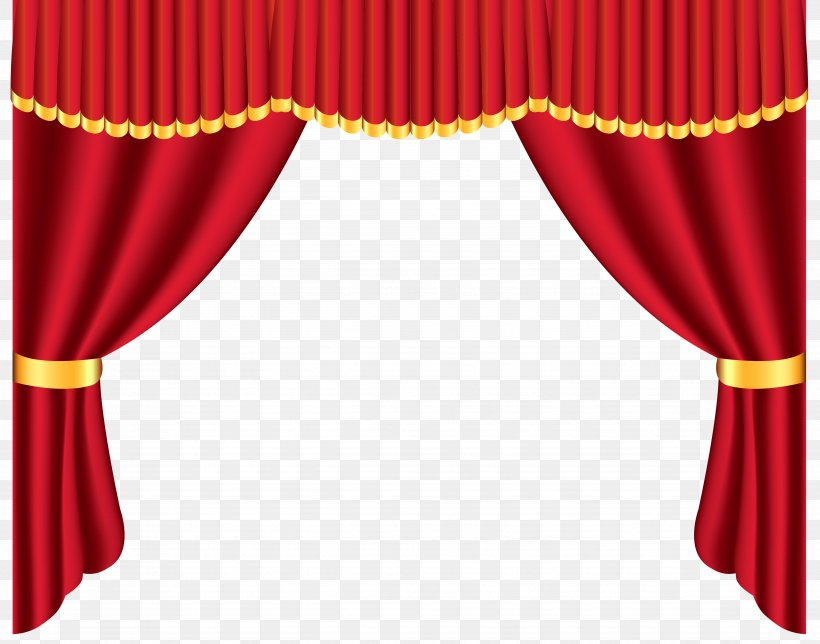 Theater Drapes And Stage Curtains Window Clip Art, PNG.