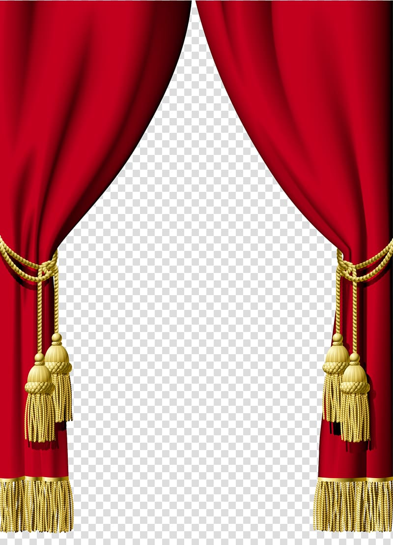 Red and brown window curtain frame, Curtain Interior Design.
