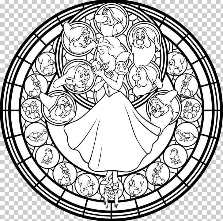 Sunset Shimmer Window Design For Stained Glass Coloring Book.