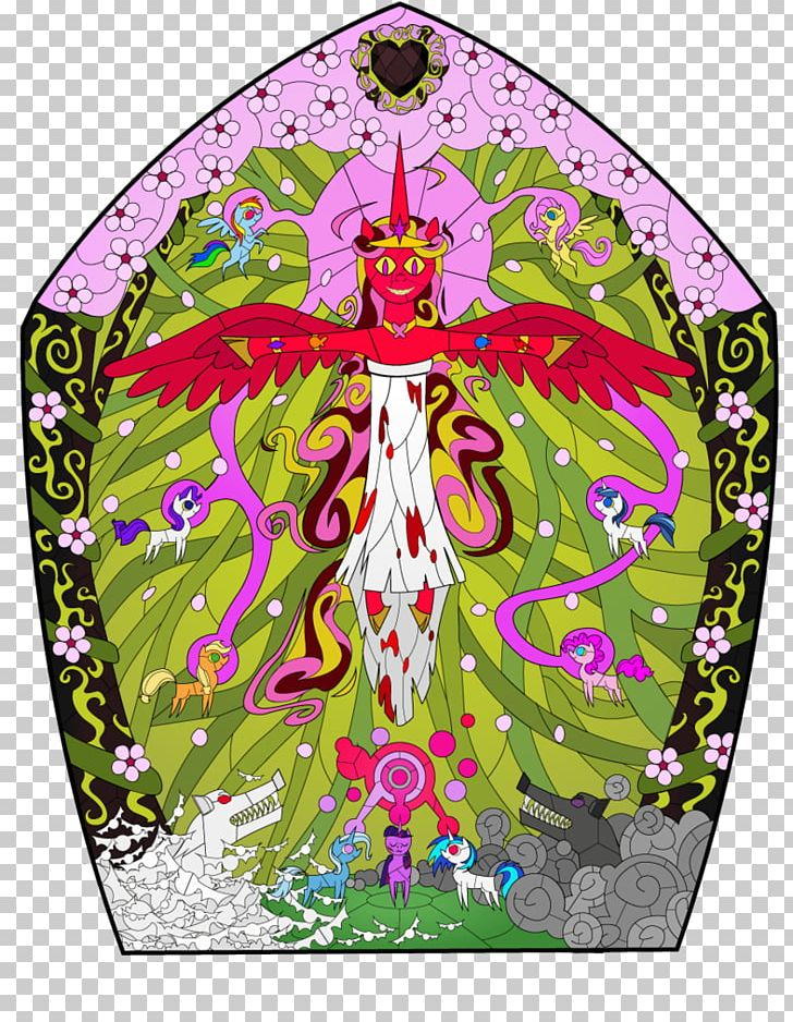 Window Twilight Sparkle Sunset Shimmer Stained Glass PNG.