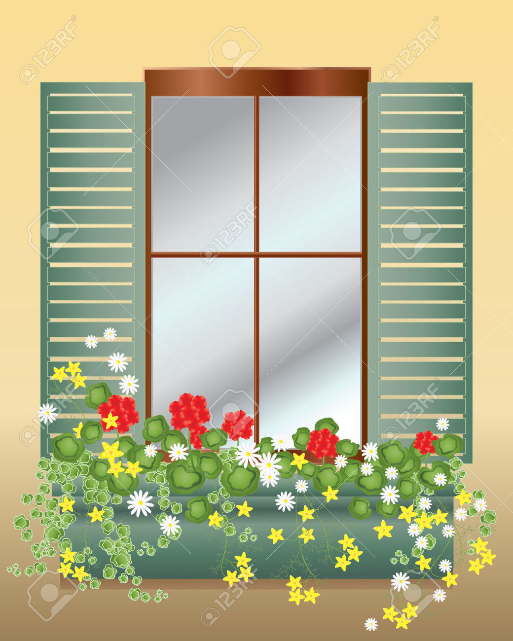 Window Box Clip Art.