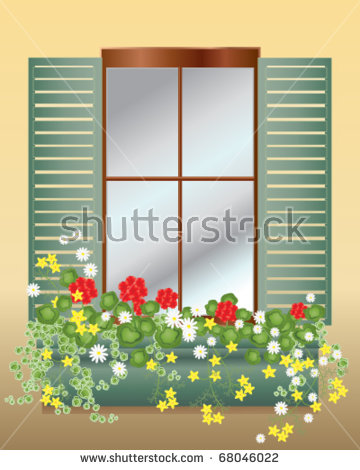 Window Box Stock Images, Royalty.