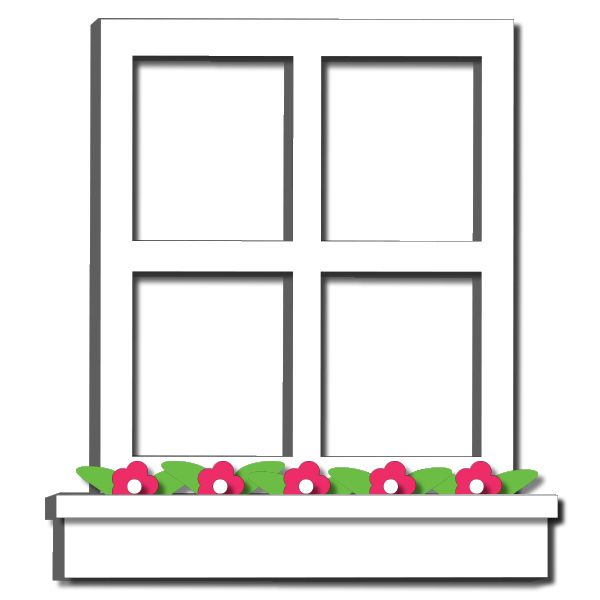 Window box clipart.